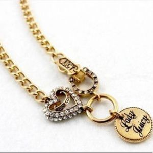 • {Juicy Couture} Lady Juicy Gold Charm Necklace •